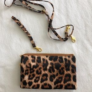 Handbags - Leopard Crossbody or Wristlet Handbag